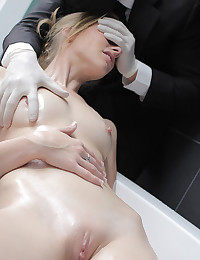 Adorable Blonde Bounces On Huge Cock