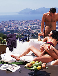 Small titty Euro slut outdoors