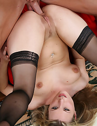Naughty Blonde Minx Gets Drilled Deep