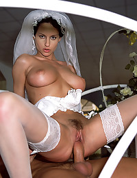 Horny brides love big cocks