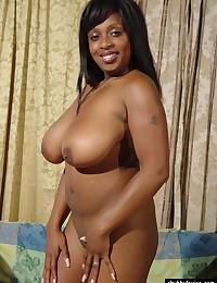 BBW black bikini girl