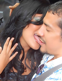 Cumshot on a big Latina ass