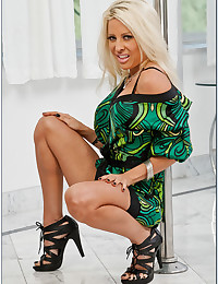 Sultry Blonde Vixen Helly Fucks Cock