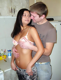 Young teen couple gives in