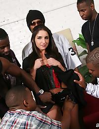 Their gangbang girl in lingerie