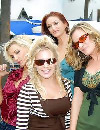 Hot milf lesbian foursome