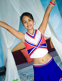 Asian cheerleader girl