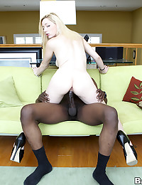 Creamy Skinned Rylie Rides Black Cock