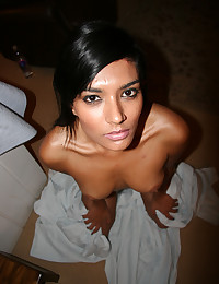Dark-skinned hot girl is fucked