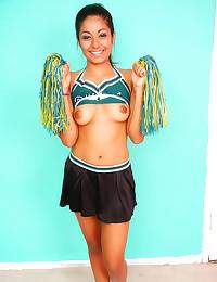 Latina teen cheerleader loves...