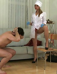 Scrupulous rectal and genital exam by a bad nurse