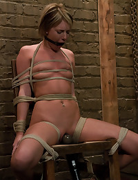 Very Attractive Blond Hogtied And Banged