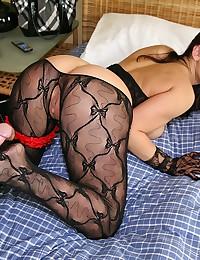 Lovely lace on cock slut