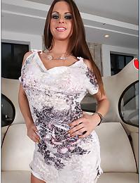Leggy Brunette Paige Fucks Cock