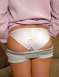 Megan QT - Her cute ass in workout shorts and in white panties
