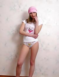 Busty teen in pretty panties