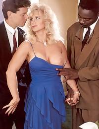 Horny retro interracial threesome screwing