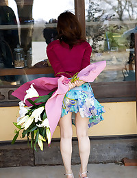Japanese girl in pretty panti...