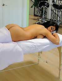 Oil massage turns her on