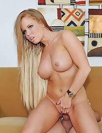 Busty Curvaceous Blonde Fucks Big Cock