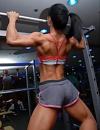 Big muscular women.