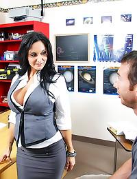 Milf teacher in skirt fucked