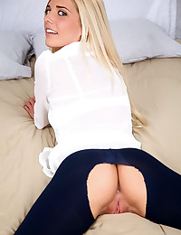 Adorable Blonde Carmen Ready For Cock