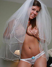 Gorgeous Perky Bride Cass Looks Beautiful