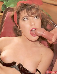 Very hot retro double penetration of a babe