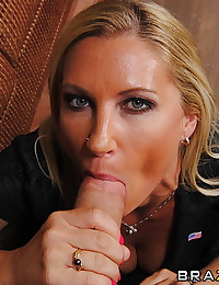 Horny anal milf in stockings