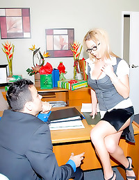 Office girl naked desk fuck