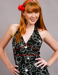 Cute redhead all tied up