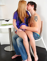 Erotic teen sex with kissing