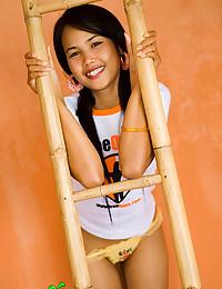 Slender Asian teen stripper