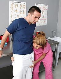 Busty nurse wants big dick