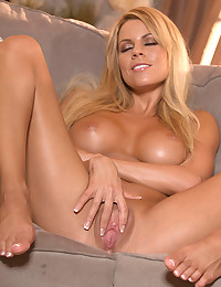 Naughty Nicole Spreads Wide Open