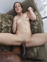 Black cock boning the skinny bitch