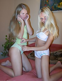 Lovely Anne brought a friend over and the two of them are getting nude.
