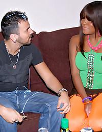 Gorgeous Black Babe Nicole Drilled