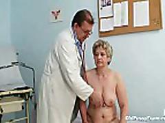 Mature fat pussy Ruzena gyno speculum bizzare clinic ex