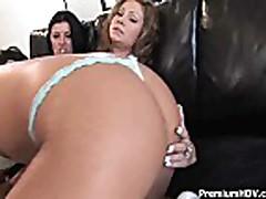 Nasty lesbians having toy party