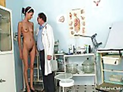 Angela gyno vagina exam with speculum by old kinky doct