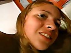 Tiny Latino babe Damita-Lady Mellow brutally DPed