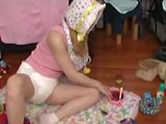 ABDL diapered ladies playing