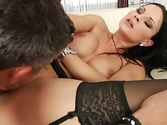 Gorgeous fake tits girl fucked up the ass