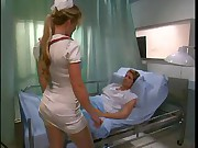 Babe Nurse in stockings Fuck Patient when Doctor is outdoor