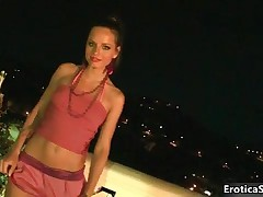Nasty Teen Girl With An Amazing Body Gets Naked Outdoor By EroticaSun