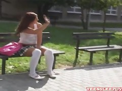 Misty and Honey - Shy Babes Kissing And Making Out After School