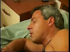 Dark Haired Tranny Takes Penis