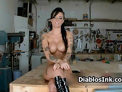 Christy Mack - Stunning Christy Mack All Naked Showing Her Big Perfect Tits By DiablosInk